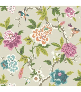 GP5902 - Floral with Birds - Waverly Garden Party