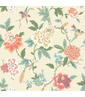 GP5905 - Floral with Birds - Waverly Garden Party
