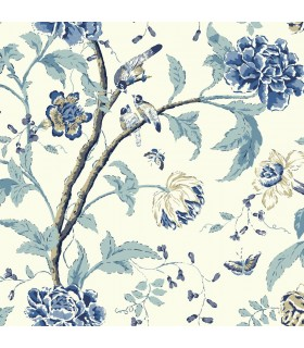 EB2076 - Cobalt Blues Wallpaper by York