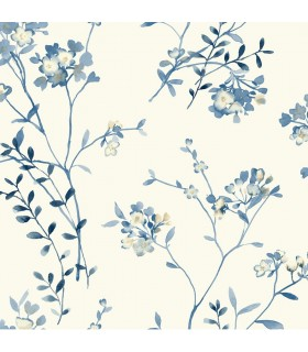 WT4537 - Cobalt Blues Wallpaper by York