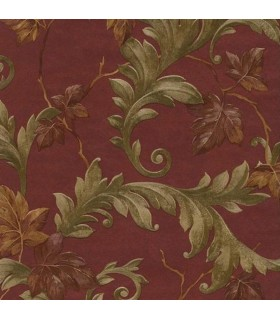 13743336 - Brewster Wallpaper Leaf Scroll