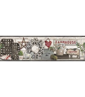LG1300BD - Rustic Living Farmhouse Wallpaper Border