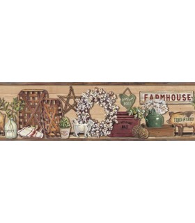 LG1301BD - Rustic Living Farmhouse Wallpaper Border