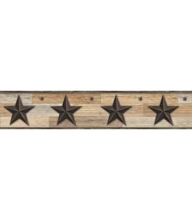 LG1315BD - Rustic Living Pallet Star Wallpaper Border