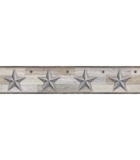 LG1317BD - Rustic Living Pallet Star Wallpaper Border