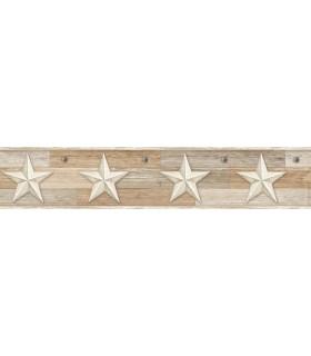 LG1318BD - Rustic Living Pallet Star Wallpaper Border