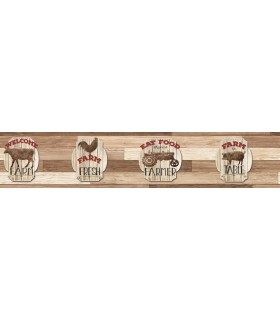 LG1395BD - Rustic Living by York Farm Fresh Wallpaper Border