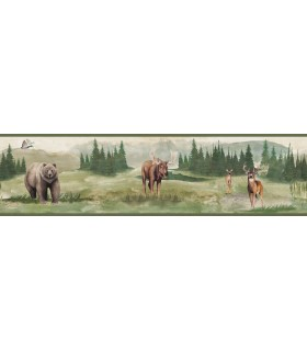 LG1410BD - Rustic Living by York - Wilderness Watercolor Border