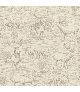 LG1447 - Rustic Living by York - Stag-Deer Toile