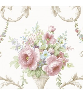 IM36419 - Silk Impressions 2 by Norwall Floral Wallpaper