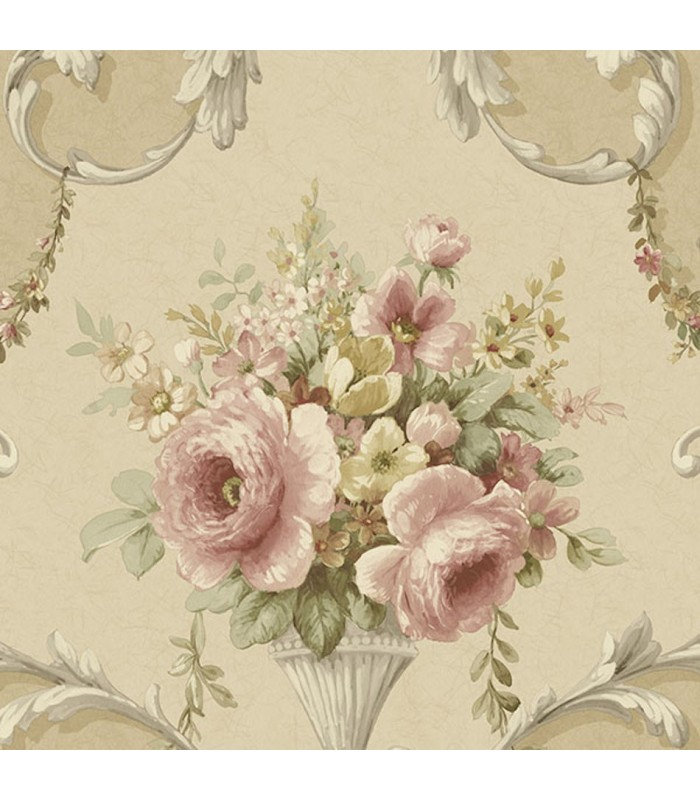 Im36424 Silk Impressions 2 By Norwall Floral Wallpaper Wallpaper The Home