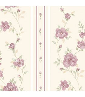IM36410 - Silk Impressions 2 by Norwall Floral Stripe Wallpaper