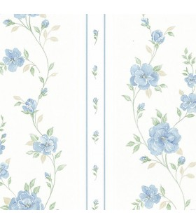 MD29940 - Silk Impressions 2 by Norwall Floral Stripe Wallpaper