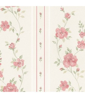 MD29443 - Silk Impressions 2 by Norwall Floral Stripe Wallpaper