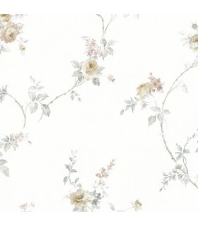 MD29400 - Silk Impressions 2 by Norwall Floral Wallpaper
