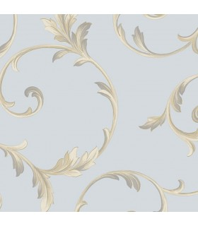 IM36418 - Silk Impressions 2 by Norwall Scroll Leaves Wallpaper