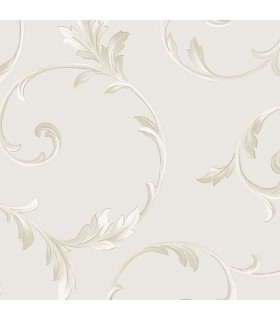 IM36417 - Silk Impressions 2 by Norwall Scroll Leaves Wallpaper