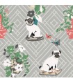 MC0402 - Madcap Cottage Wallpaper-Manor Born Pug Dogs
