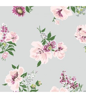 MC0420 - Madcap Cottage Wallpaper-Isleboro Eve Peonies Floral