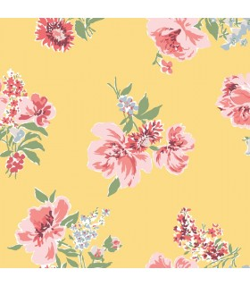 MC0421 - Madcap Cottage Wallpaper-Isleboro Eve Peonies Floral