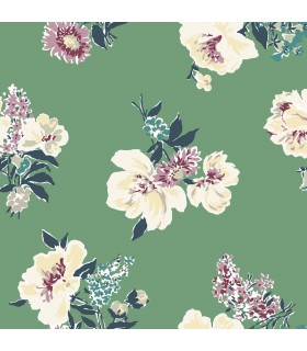 MC0422 - Madcap Cottage Wallpaper-Isleboro Eve Peonies Floral