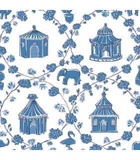 MC0425 - Madcap Cottage Wallpaper-Into The Garden-Pagoda