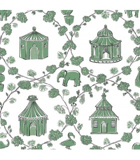 MC0426 - Madcap Cottage Wallpaper-Into The Garden-Pagoda