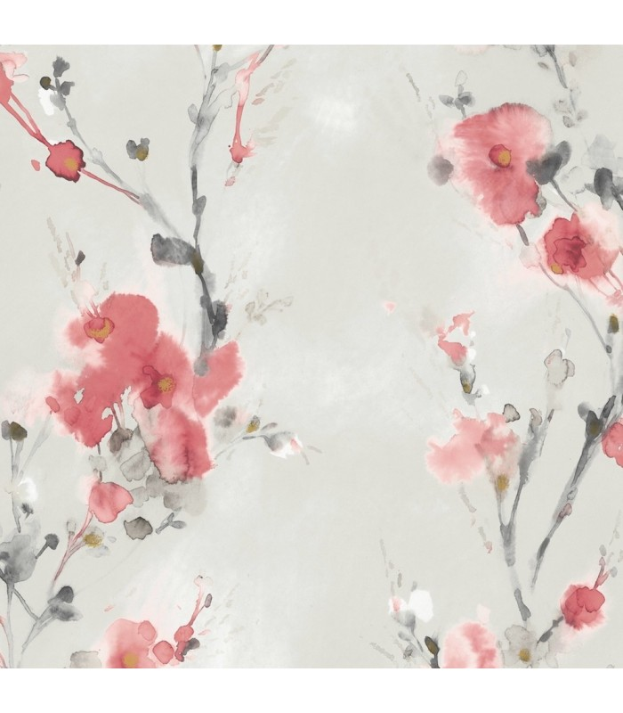 Cp1200 Candice Olson Breathless Wallpaper Watercolor Floral