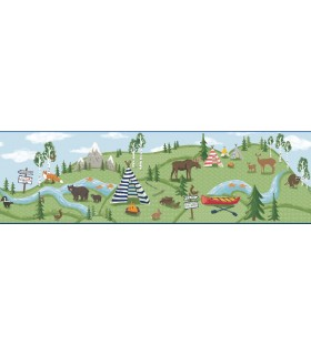 LK8200BD - Young at Heart Wallpaper Border-Adventure Awaits