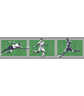 LK8226BD - Young at Heart Wallpaper Border-Soccer Border