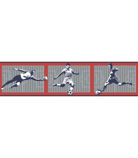LK8227BD - Young at Heart Wallpaper Border-Soccer Border