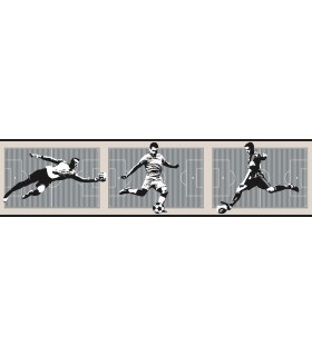 LK8228BD - Young at Heart Wallpaper Border-Soccer Border