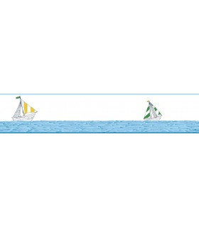 LK8236BD - Young at Heart Wallpaper Border-Karavi Sail Boats
