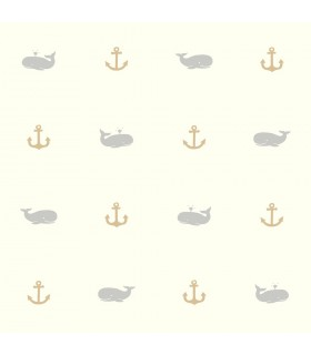 LK8245 - Young at Heart Wallpaper-Whale of a Tale