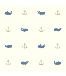 LK8246 - Young at Heart Wallpaper-Whale of a Tale