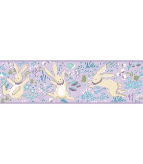LK8272BD - Young at Heart Wallpaper Border-Garden Frolic-Rabbits
