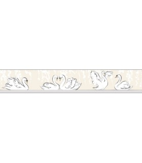 LK8295BD - Young at Heart Wallpaper Border-Swimming Swans Border