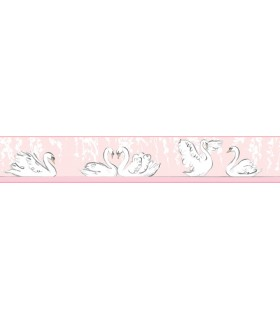 LK8296BD - Young at Heart Wallpaper Border-Swimming Swans Border