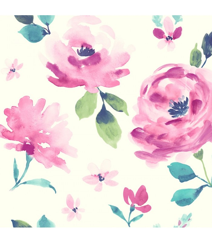 LK8315 - Young at Heart Wallpaper-Watercolor Blooms