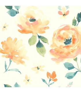 LK8316 - Young at Heart Wallpaper-Watercolor Blooms