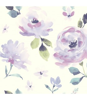 LK8317 - Young at Heart Wallpaper-Watercolor Blooms