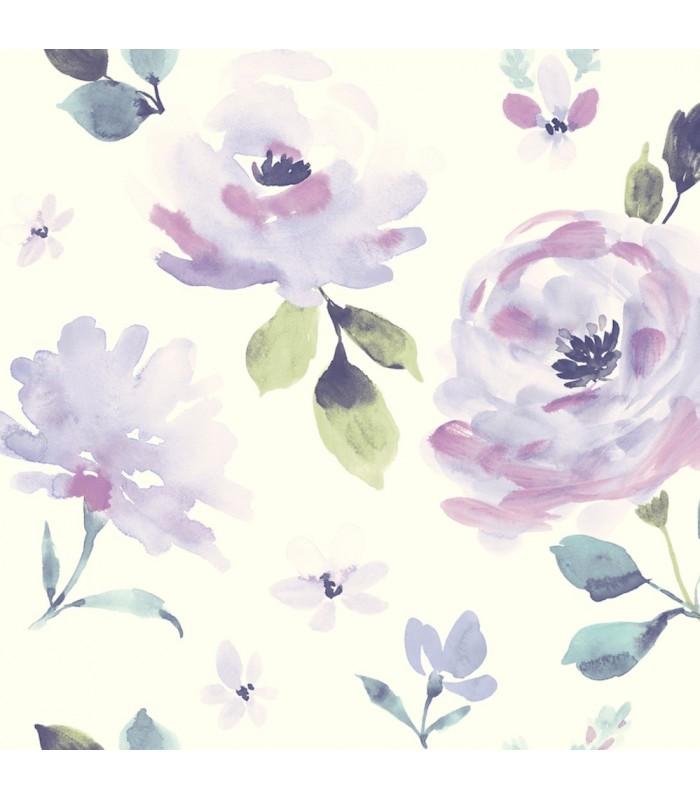 LK8317 - Young at Heart Wallpaper-Watercolor Blooms