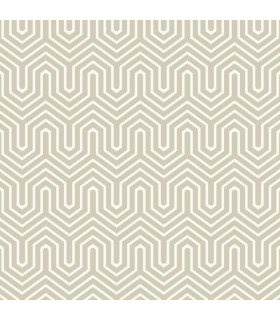GE3713 - Ashford Geometrics Flocked Wallpaper-Labyrinth