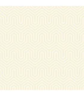 GE3714 - Ashford Geometrics Flocked Wallpaper-Labyrinth