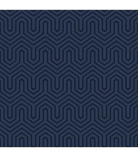 GE3715 - Ashford Geometrics Flocked Wallpaper-Labyrinth