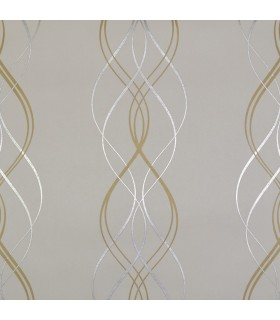 NW3549 - Modern Metals Wallpaper by Antonina Vella-Aurora