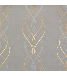 NW3550 - Modern Metals Wallpaper by Antonina Vella-Aurora