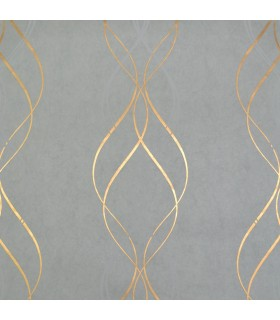 NW3551 - Modern Metals Wallpaper by Antonina Vella-Aurora