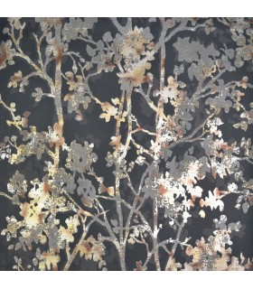 NW3580 - Modern Metals Wallpaper by Antonina Vella-Shimmering Foiliage