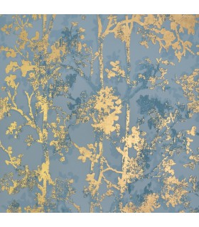 NW3581 - Modern Metals Wallpaper by Antonina Vella-Shimmering Foiliage